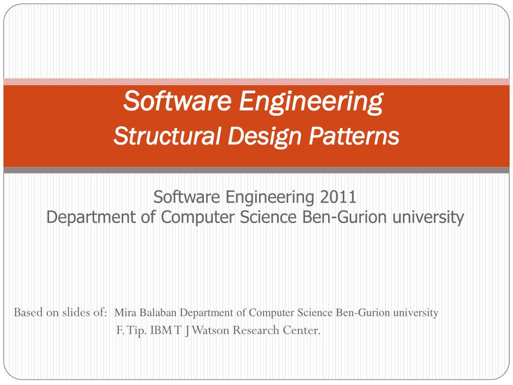 Ppt Software Engineering Structural Design Patterns Powerpoint Presentation Id 2052647