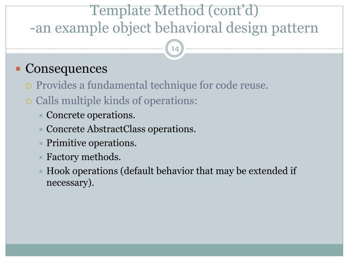 Template Method (cont'd)
