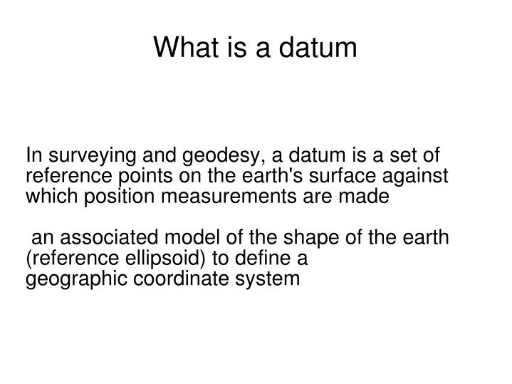 what is a datum n.