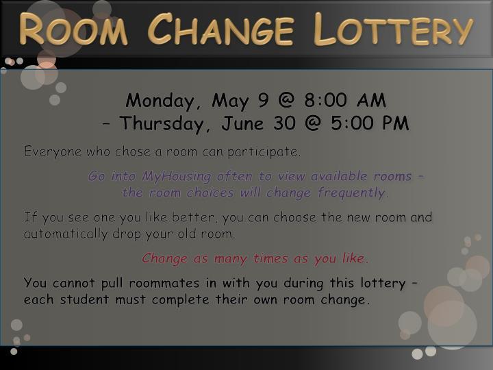 Room Change Lottery