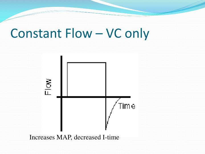 Constant Flow – VC only