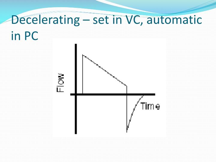 Decelerating – set in VC, automatic in PC