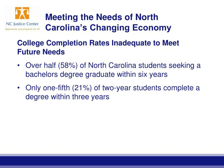 Meeting the Needs of North Carolina's Changing Economy