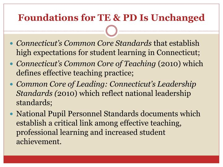 Foundations for te pd is unchanged