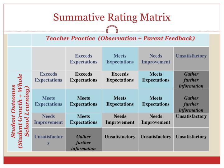 Summative Rating Matrix