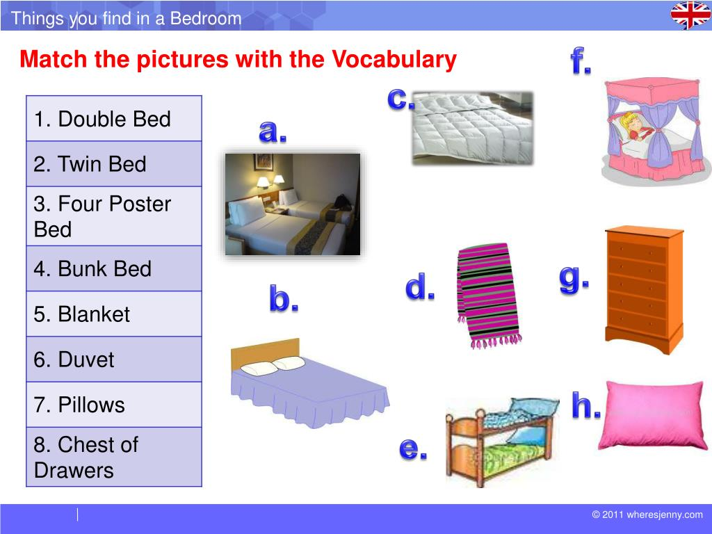 PPT - Things You Find in a Bedroom PowerPoint Presentation ...