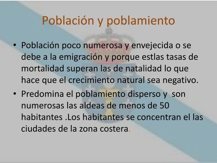 Población y poblamiento