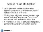 second phase of litigation