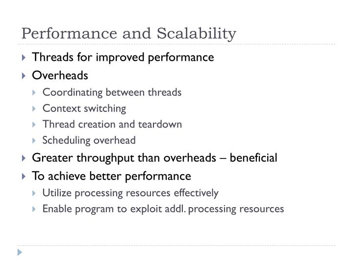 Performance and Scalability