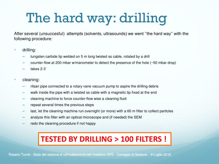 The hard way: drilling