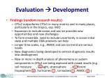 evaluation development