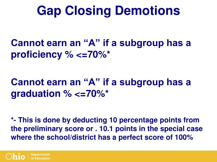 Gap Closing Demotions
