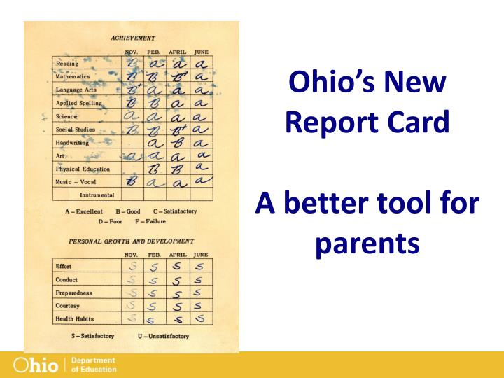 Ohio's New Report Card