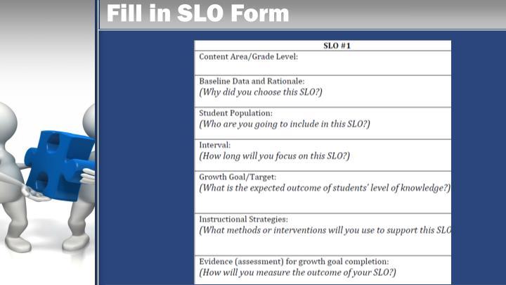 Fill in SLO Form