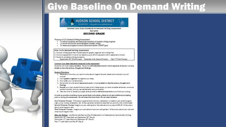Give Baseline On Demand Writing