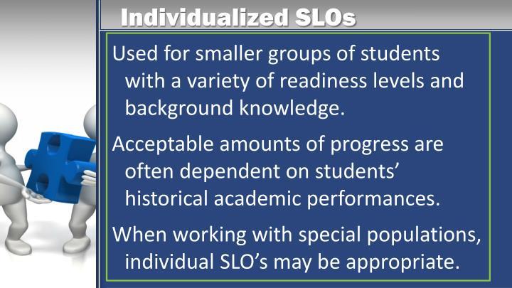 Individualized SLOs