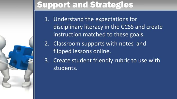 Support and Strategies