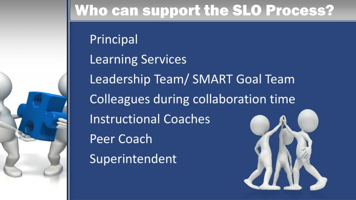 Who can support the SLO Process?