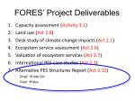 fores project deliverables