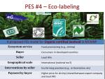 pes 4 eco labeling