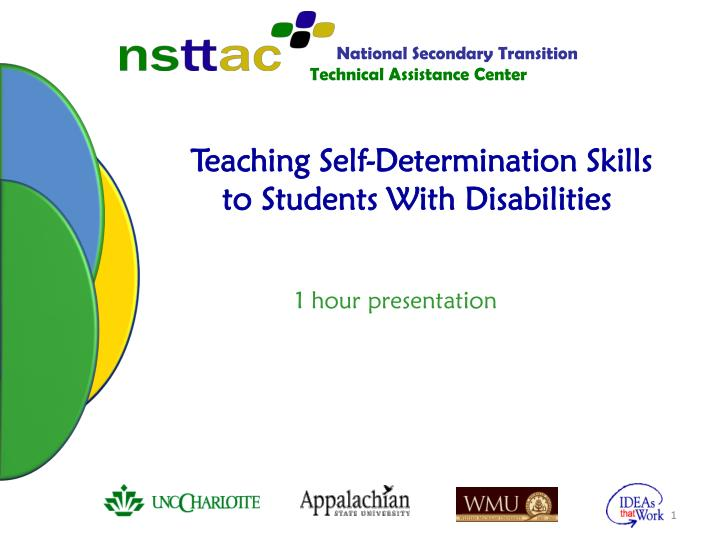 Self-Determination Interventions for Students with and at Risk for ...