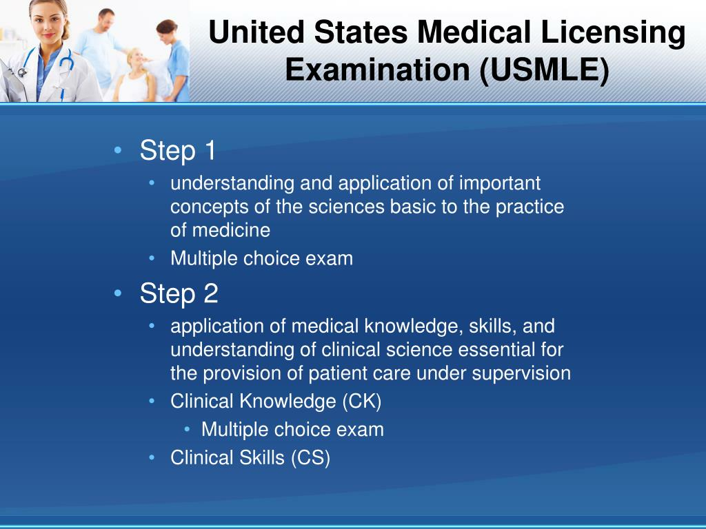PPT - Medical Licensure in the United States Assessment of