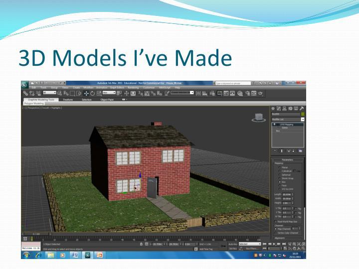 3D Models I've Made