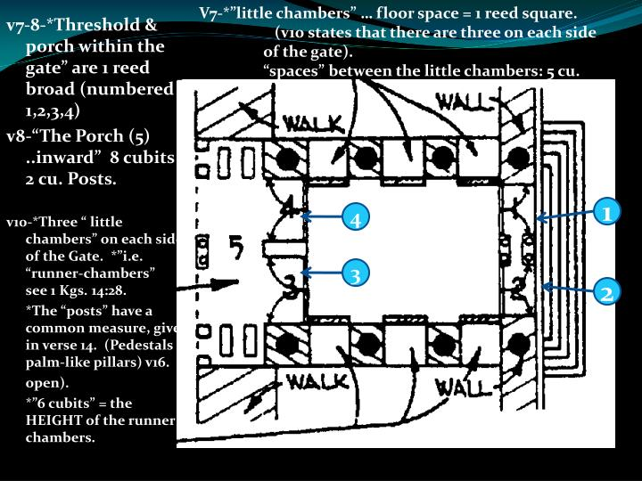 "V7-*""little chambers"" … floor space = 1 reed square."