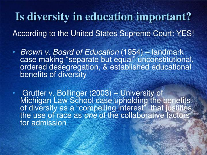 Is diversity in education important?