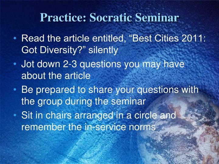Practice: Socratic
