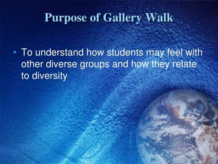 Purpose of Gallery Walk