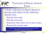 traversal of binary search trees