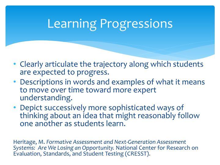 Learning Progressions