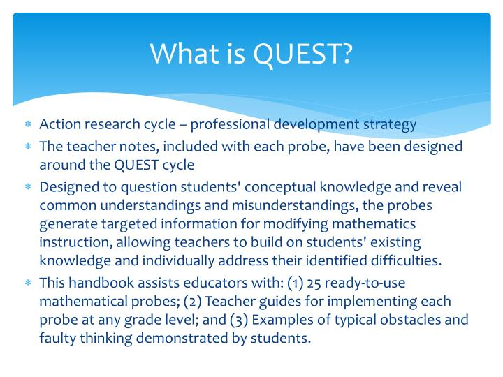 What is QUEST?