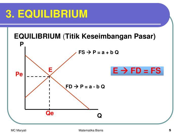 3. EQUILIBRIUM