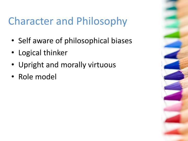 Character and Philosophy