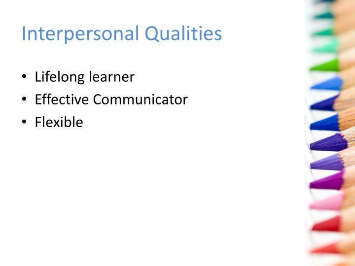 Interpersonal Qualities