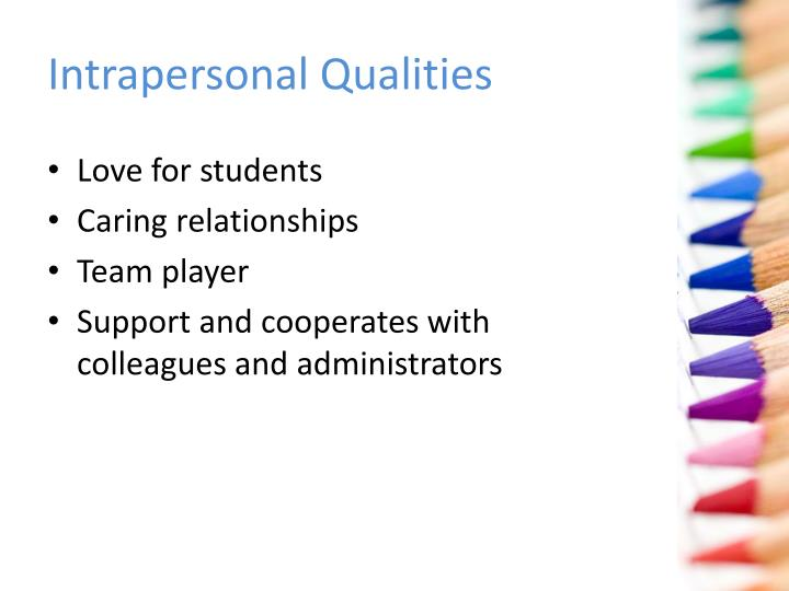 Intrapersonal Qualities