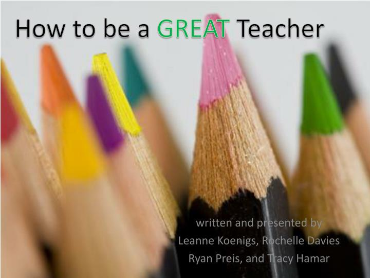 Written and presented by leanne koenigs rochelle davies ryan preis and tracy hamar