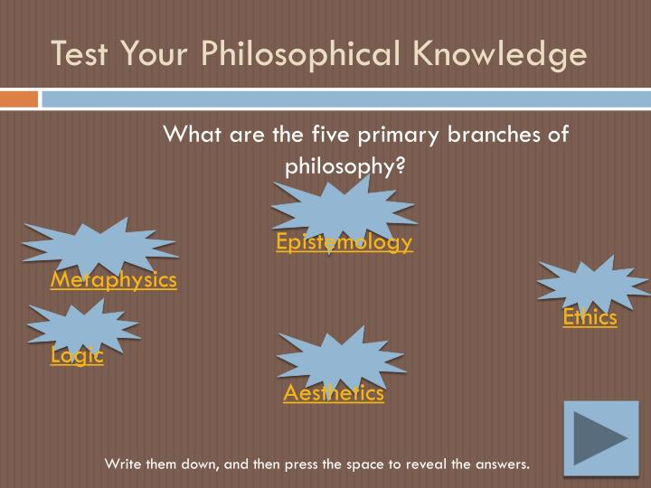 Test Your Philosophical Knowledge