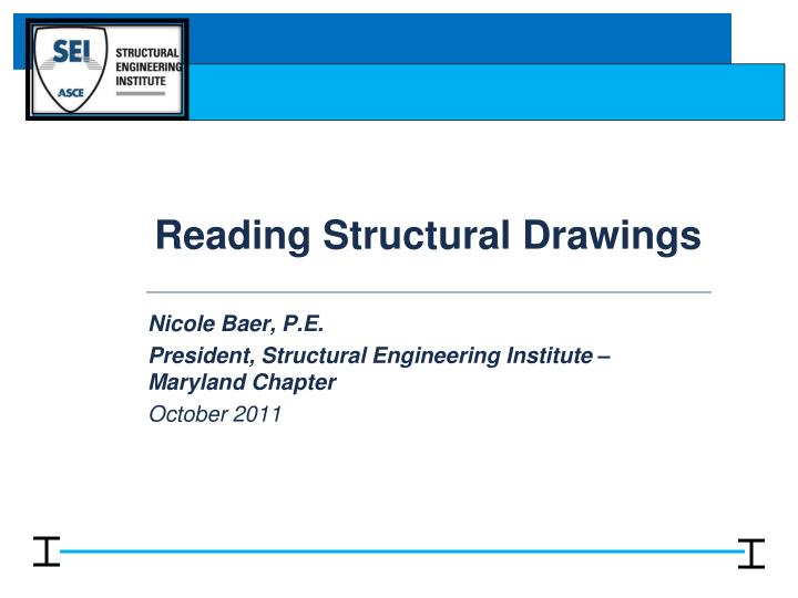 reading structural drawings n.