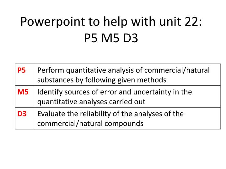 powerpoint to help with unit 22 p5 m5 d3 n.
