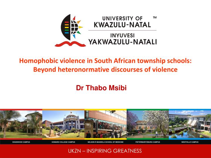Homophobic violence in south african township schools beyond heteronormative discourses of violence