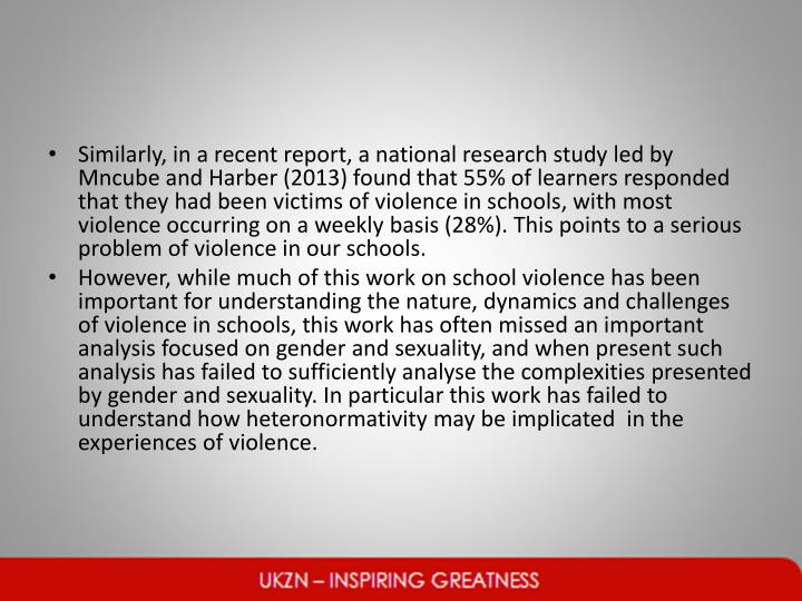 Similarly, in a recent report, a national research study led by