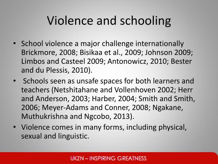 Violence and schooling