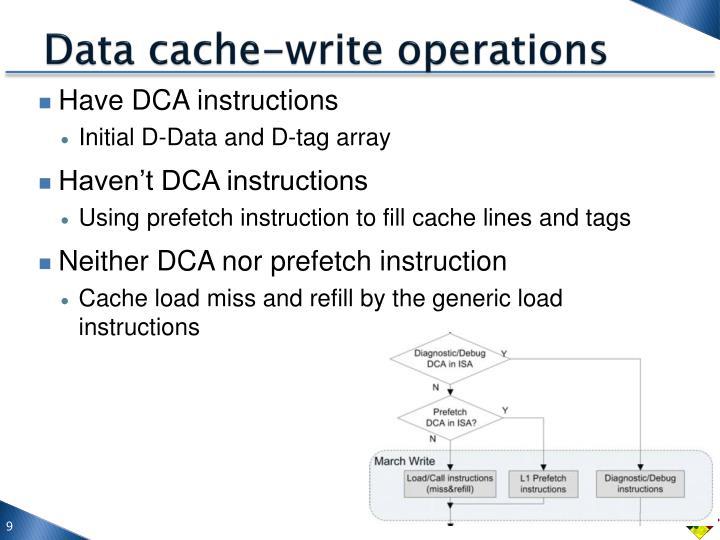 Data cache-write operations