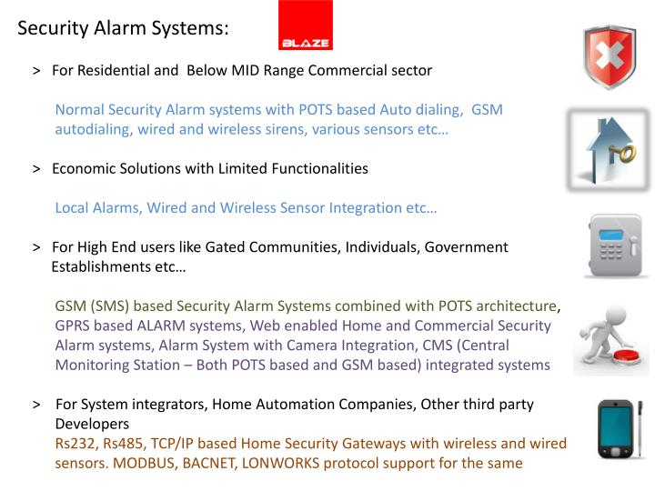 Security Alarm Systems: