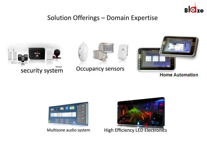 Solution offerings domain expertise