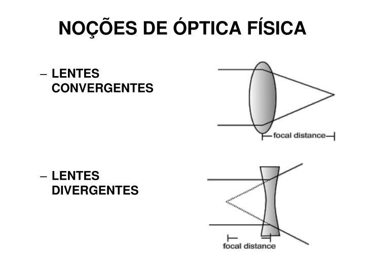 NOÇÕES DE ÓPTICA FÍSICA