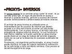 proxys inversos